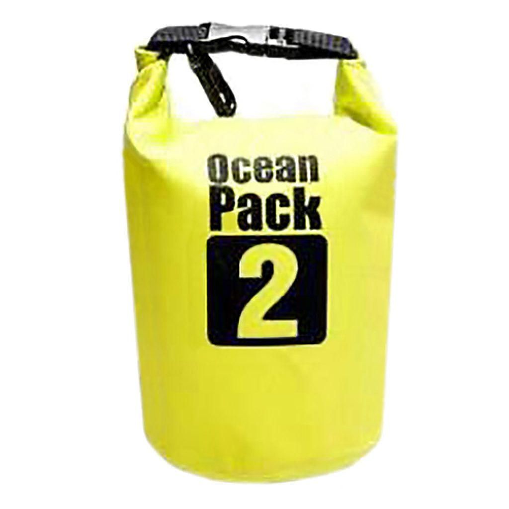 Bolsa impermeable de 5 litros de capacidad, medidas 20 cm diámetro x 32 cm alto (cerrada). Fabricada en 500D PVC tarpaulin de 0.5 mm; impermeable. Presentado en bolsa individual.